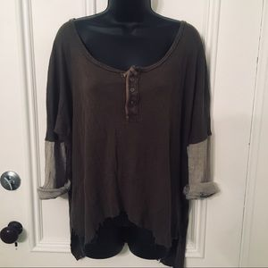 🛍Free People We The Free Oversized Distressed Top